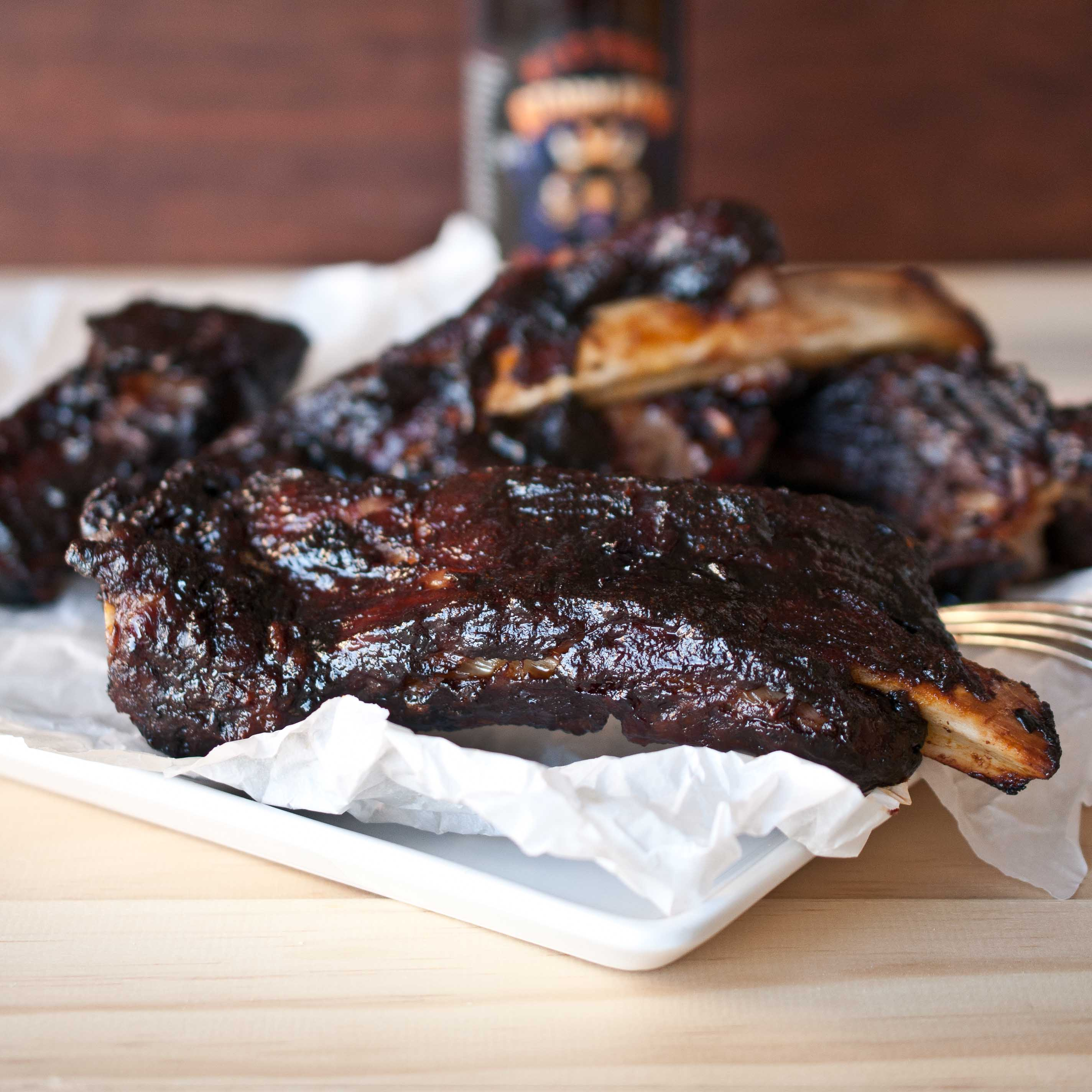Oven Roasted BBQ Ribs With Stout Barbecue Sauce - The Beeroness